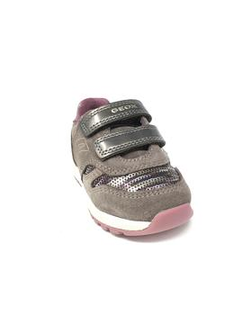 DEPORTIVO GEOX VELCRO SMOKE GREY ROSE